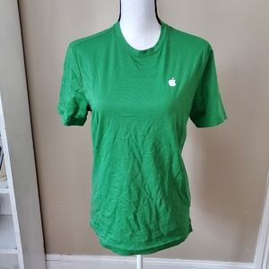 Green Apple store employee tee shirt xs